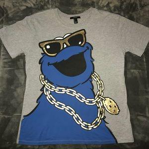Gangster Cookie Monster Shirt
